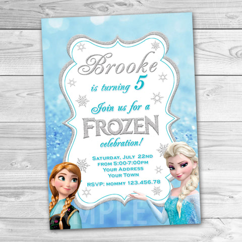 image regarding Frozen Invitations Printable titled Invites Tagged \